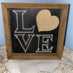 Handmade LOVE picture frame